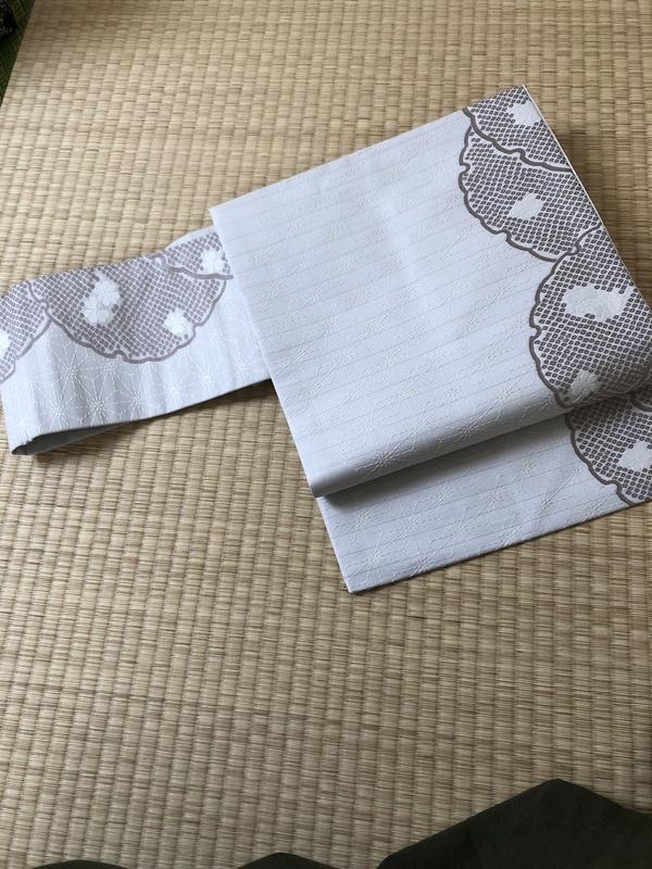 新商品入荷ー麻の葉に雪輪の名古屋帯