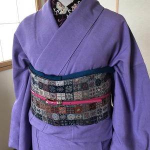 紫紬に名物裂風帯