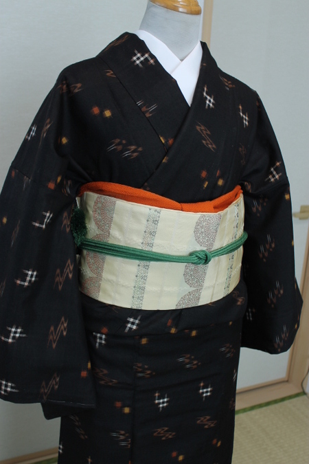 久米島紬着物