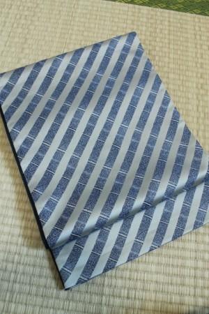 斜め格子全通リバーシブル袋帯