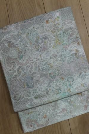 ペールグリーンラメ系袋帯