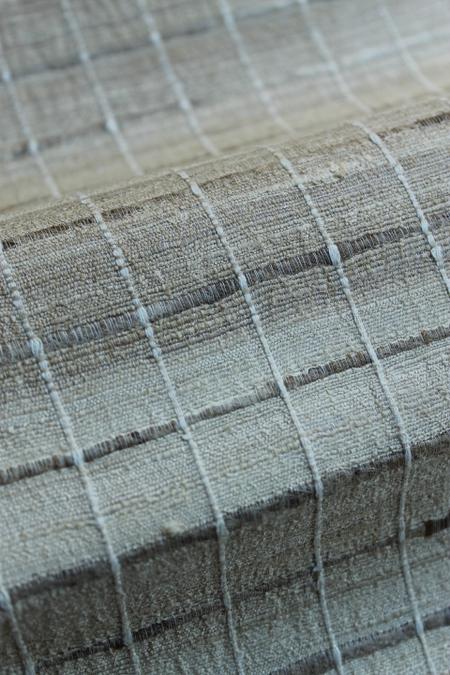 野蚕シルク格子袋帯