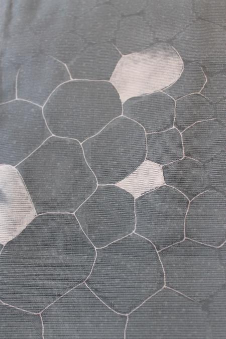 石畳文絽小紋