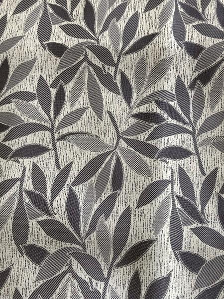 ベージュ系木の葉柄お召し小紋