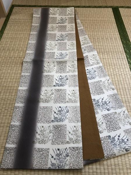 秋草文洒落袋帯