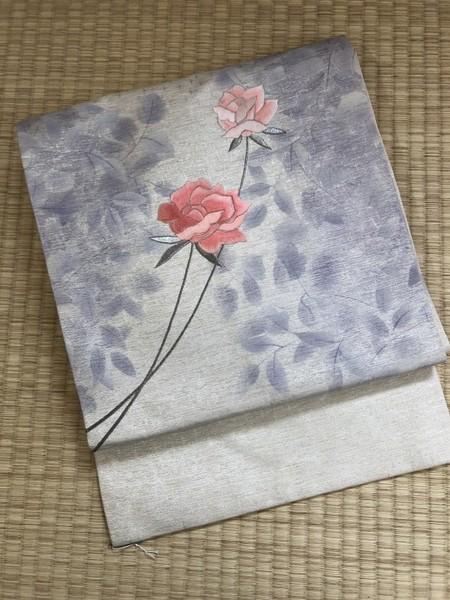 薔薇柄名古屋帯