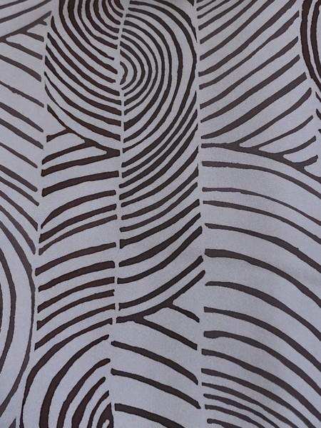 縞に渦巻き文羽織